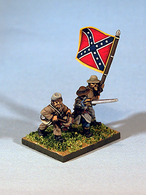 15mm American Civil War command stand for Regimental Fire & Fury
